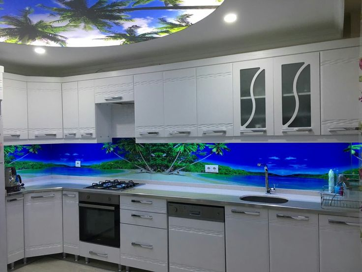 Mutfak Arası 3 Boyut Cam Panel